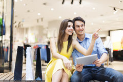 Young couple after shopping Royalty Free Stock Images