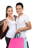 Young couple with shopping bag Stock Photography