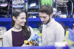 Young couple in shopping Stock Photo