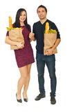 Young couple shopping food Stock Image