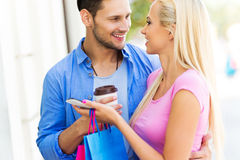 Young couple shopping Stock Photos