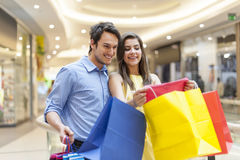 Young couple in shopping mall Stock Image