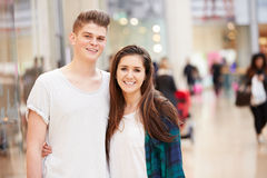 Young Couple Shopping Mall In Mall Together Royalty Free Stock Photos