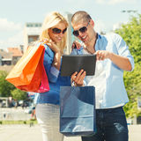Young couple shopping  online Stock Photo