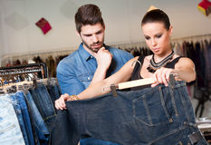 Young couple shopping. Stock Images
