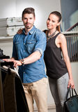 Young couple shopping. Stock Image
