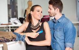 Young couple shopping. Stock Photography