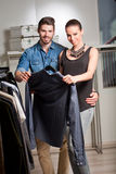 Young couple shopping. Stock Photos