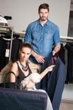 Young couple shopping. Royalty Free Stock Photos