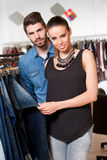 Young couple shopping. Royalty Free Stock Photos