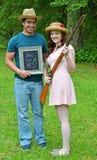 Young Couple Shotgun Wedding Royalty Free Stock Photos
