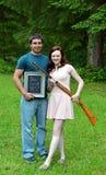 Young Couple Shotgun Wedding Stock Image
