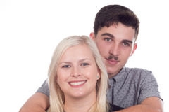 Young couple or siblings Stock Images