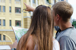 Young couple sightseeing Royalty Free Stock Photo