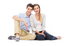 Young couple sitting Stock Photo