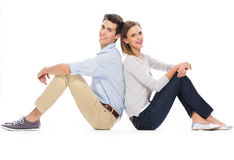 Young couple sitting Royalty Free Stock Photo