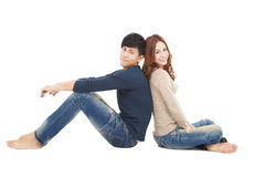 Young couple sitting together Stock Photography