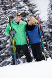 Young Couple On Ski Holiday In Mountains Royalty Free Stock Photo