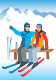 Young couple on ski vacation. Stock Photography