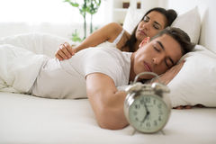 Young couple sleeping Royalty Free Stock Images