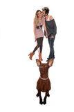 Young couple with small dog Royalty Free Stock Images