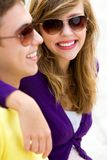 Young couple smiling Stock Photography