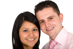 Young couple smiling Stock Image