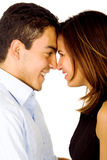 Young couple smiling Stock Photos