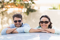 Young couple smiling at the camera Stock Photo