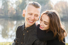 Young couple smiling Royalty Free Stock Photo