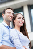 Young couple smiling Royalty Free Stock Photography