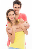 Young couple smiling Royalty Free Stock Image