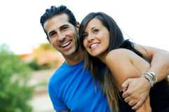 Young couple smiling together Royalty Free Stock Photo