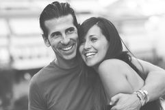 Young couple smiling together Stock Photo