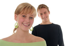 Young couple smilling Stock Photography