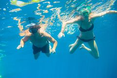 Young Couple Snorkeling stock photography