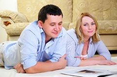 Young couple spends time together Stock Image