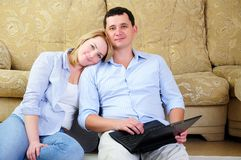Young couple spends time together Royalty Free Stock Photo