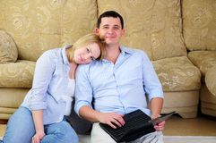 Young couple spends time together Stock Photo