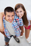 Young couple standing Royalty Free Stock Image