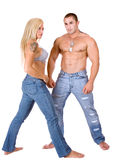 Young couple standing Stock Photography