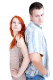 Young couple standing back Royalty Free Stock Photography