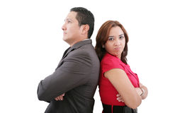 Couple standing back to back Royalty Free Stock Photo