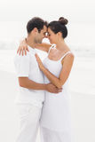Young couple standing face to face and romancing Stock Images