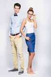 Young couple standing Stock Image