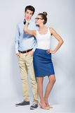 Young couple standing Royalty Free Stock Photography