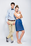Young couple standing Stock Photos