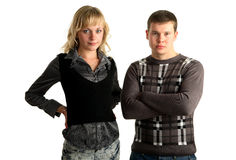 Young couple standing together Stock Image