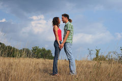 Young couple standing together royalty free stock photography
