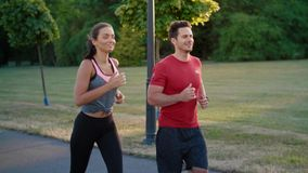 Couple starting up their jogging training
